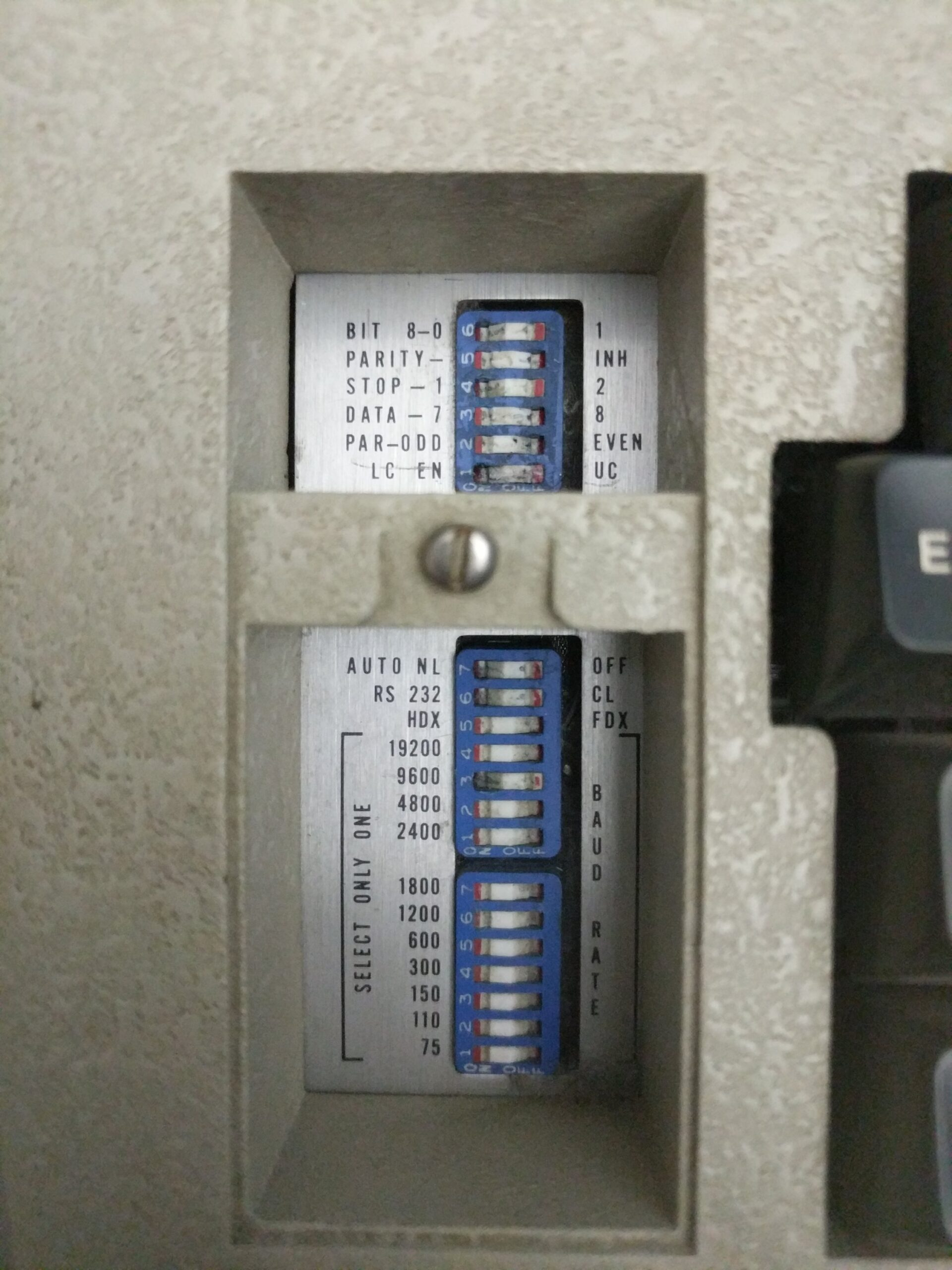 ADM-3A front console switches
